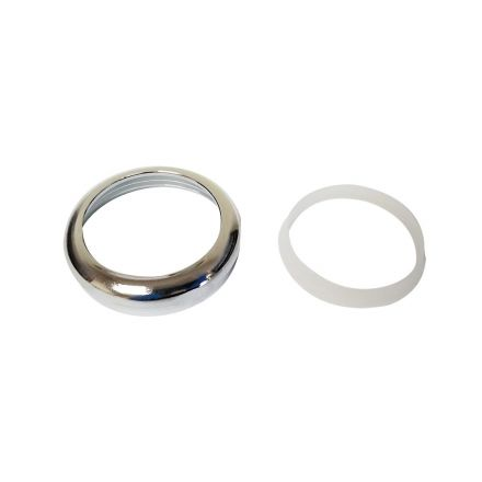 Thrifco Plumbing 4400116 1-1/2 Inch Chrome Plated Brass Slip Joint Nut with Poly Washer