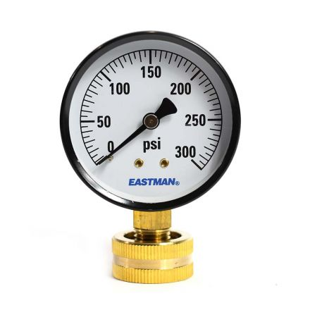 Thrifco Plumbing 4400365 2-1/2 Inch 300 PSI 3/4 Inch GHT, P2A Water Pressure Test Gauge, 3/4 Inch Female Hose Thread