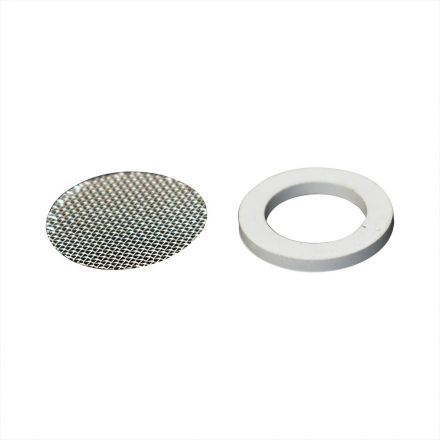Thrifco Plumbing 4400400 Small Aerator Repair Kit NSF Standard Black Rubber Washer 2mm Thick with S.S. Grill Net