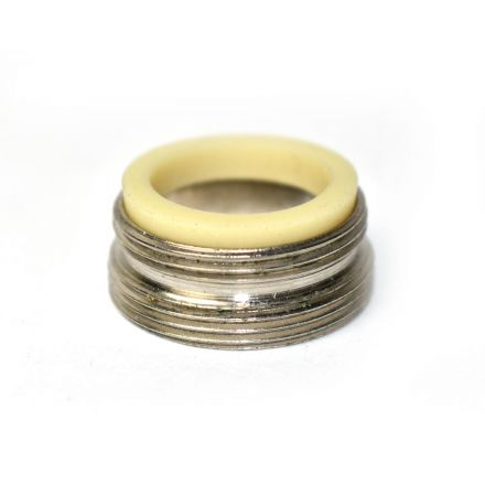 Thrifco Plumbing 4400403 Aerator Adapter Small Female PP 55/64 Inch -27T x 13/16 Inch-27T Lead Free Brass - 1.5 GPM
