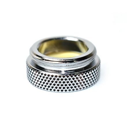 Thrifco Plumbing 4400404 Aerator Adapter Small Male PP Size: 55/64 Inch-27T x 3/4 Inch-27T Lead Free Brass - 1.5 GPM