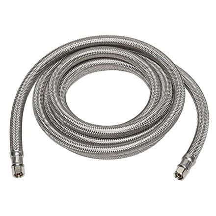 Thrifco Plumbing 4400481 1/4 Inch Comp x 1/4 Inch Comp x 120 Inch Long Stainless Steel Ice Maker Connector