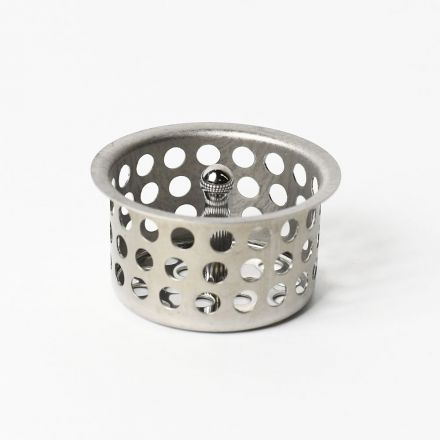 Thrifco Plumbing 4400668 1-1/2 Inch Sink Strainer Basket with Post