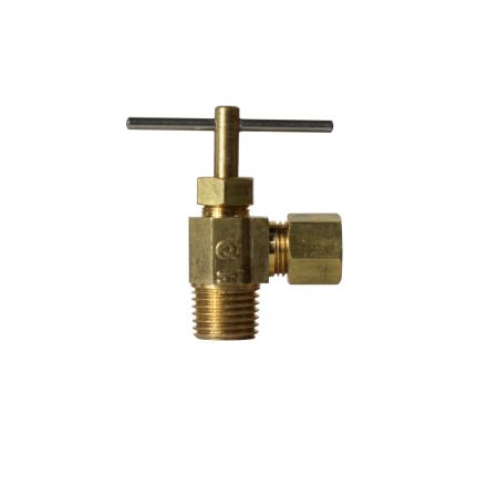 Thrifco Plumbing 4400704 1/4 Inch Comp. x 1/4 Inch MIP Angle Needle Valve