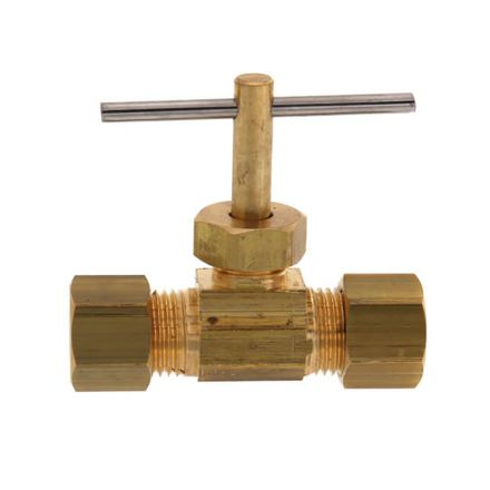 Thrifco Plumbing 4400708 3/8 Inch Comp x 3/8 Inch Comp Straight Needle Valve