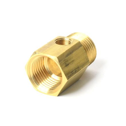 Thrifco Plumbing 4400715 1/2 Inch MIP x 1/2 Inch FIP with 1/8 Inch Tap Easy Adapter