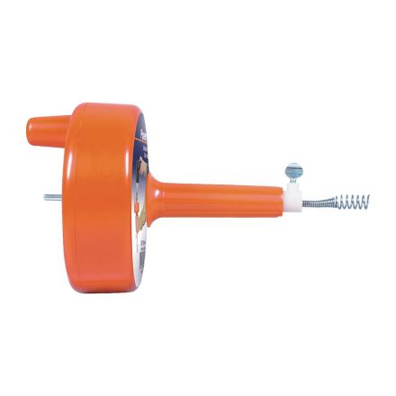 Thrifco Plumbing 4400722 General Wire 1/4 Inch x 25 Ft Plastic Drill Drain Auger / Power Clog Chaser