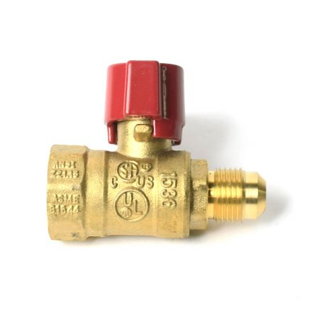 Thrifco Plumbing 4400798 3/8 Inch Flare x 1/2 Inch FIP Gas Ball Valve