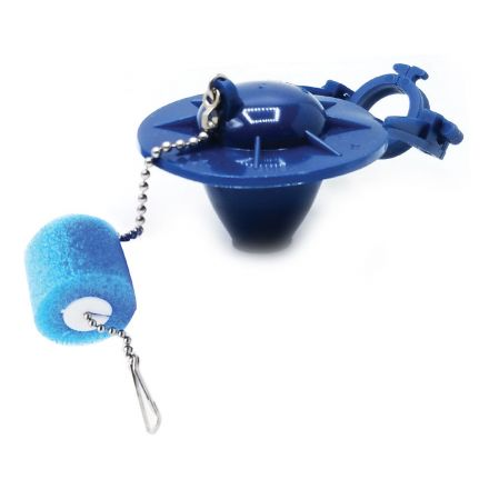 Thrifco Plumbing 4401279 Universal Toilet Repair Flapper with Float - Blue