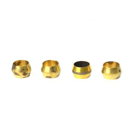 Thrifco Plumbing 4401343 60 5/16 Inch Lead-Free Brass Compression Sleeve 4/Pack