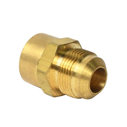 Thrifco Plumbing 4401371 15/16 Inch Male Flare x 3/4 Inch FIP #46 Flare to Female Pipe Adapter - Steel