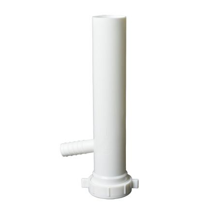 Thrifco Plumbing 4401637 1-1/2 Inch x 8 Inch Long Slip Joint Plastic Tubular With 7/8 Inch Branch Tee Piece
