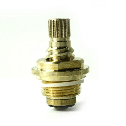 Thrifco Plumbing 4401742 Brass Streamway Stem Unit 20 TPI Gland 17pt - Hot - Fits Streamway 2596 Handle