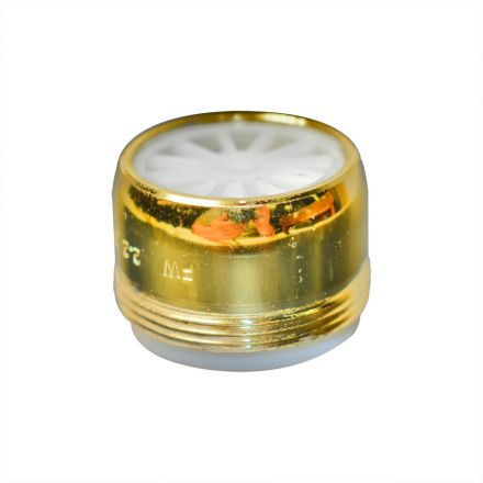 Thrifco Plumbing 4402225 Dual Thread Aerator Size: 15/16 Inch x 55/64 Inch - 27T Polish Brass Color Lead Free Brass - 1.5 GPM