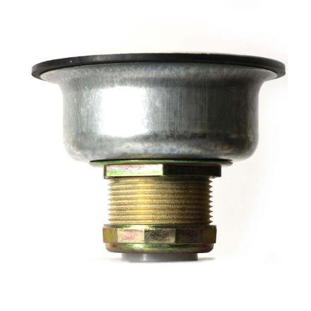 Thrifco Plumbing 4402261 3-1/2 Inch Kitchen Sink Deep Basket Strainer - Almond