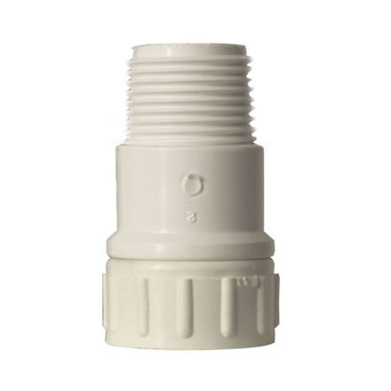 Thrifco Plumbing 4402310 3/4 MIP x 3/4 Female GHT Swivel PVC Adapter