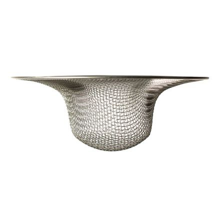 Thrifco Plumbing 4402358 2-1/2 Inch Stainless Steel Mesh Sink Strainer
