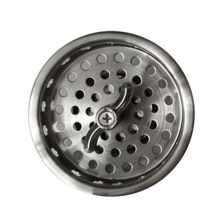 Thrifco Plumbing 4405721 Twist Tight Post Kitchen Sink Strainer Basket Cup - (Satin Nickel)