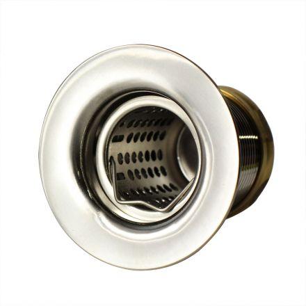 Thrifco Plumbing 4405725 Jr. Duo Kitchen Sink Basket Strainer Assembly 2-1/2 Inch Deep (Satin Nickel)