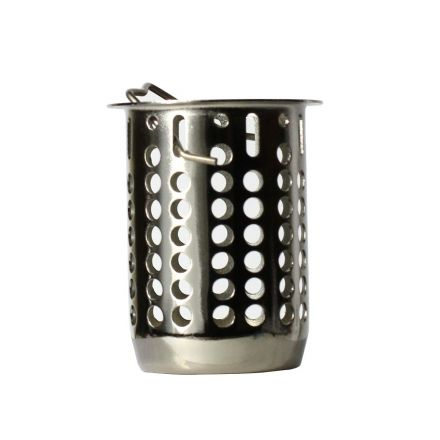 Thrifco Plumbing 4405726 2-1/2 Inch Deep Replacement Basket For Jr. Duo Strainer (Satin Nickel)