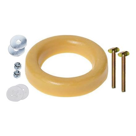Thrifco Plumbing 4544021 04310 4 Inch Plain Wax Ring W/Bolts