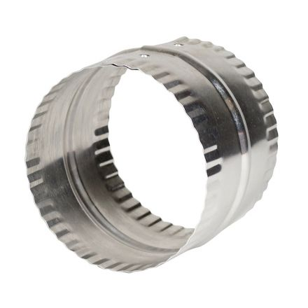 Thrifco Plumbing 4908082 3 Inch Aluminum Dust / Vent Coupling with Bead & Crimp