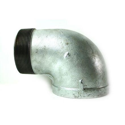 Thrifco Plumbing 5216016 4 Inch Galvanized Steel 90 Street Elbow