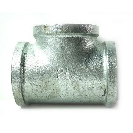 Thrifco Plumbing 5216021 2-1/2 Inch Galvanized Steel Tee