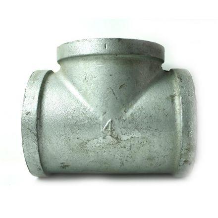 Thrifco Plumbing 5216023 4 Inch Galvanized Steel Tee