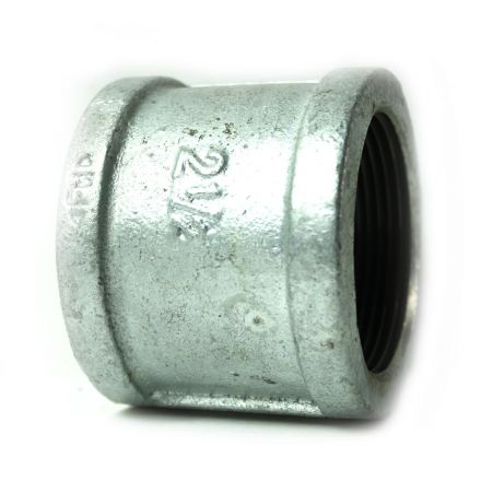 Thrifco Plumbing 5216035 2-1/2 Inch Galvanized Steel Coupling