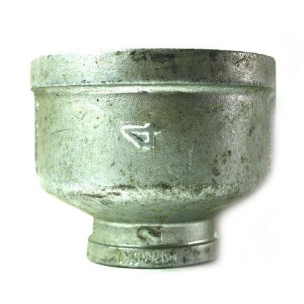Thrifco Plumbing 5216047 4 Inch x 2 Inch Galvanized Steel Reducer