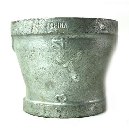 Thrifco Plumbing 5216049 4 Inch x 3 Inch Galvanized Steel Reducer