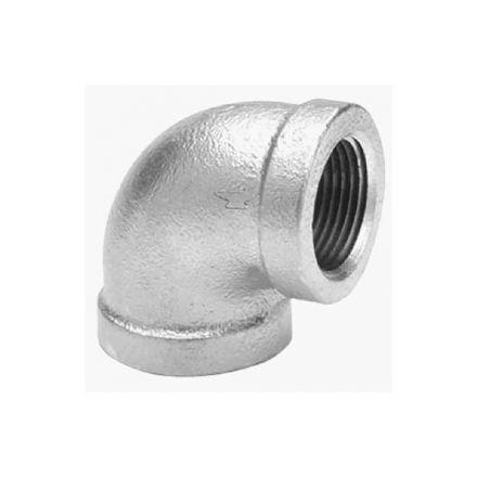 Thrifco Plumbing 5217009 1-1/2 Inch Galvanized Steel 90 Elbow