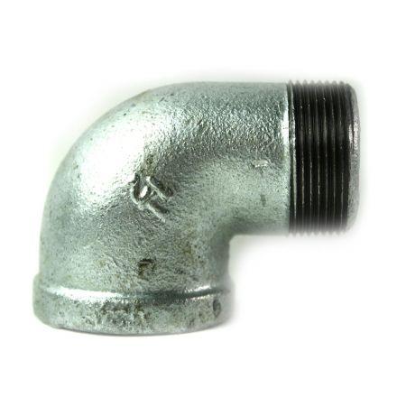 Thrifco Plumbing 5217045 1-1/2 Inch Galvanized Steel 90 Street Elbow