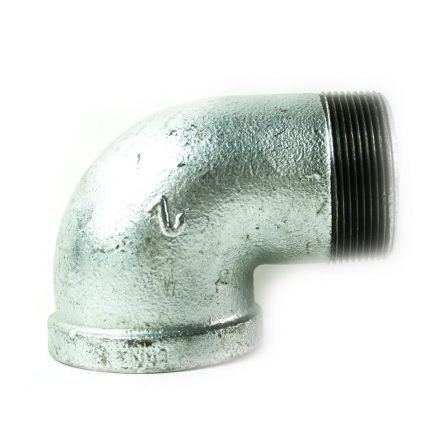 Thrifco Plumbing 5217046 2 Inch Galvanized Steel 90 Street Elbow