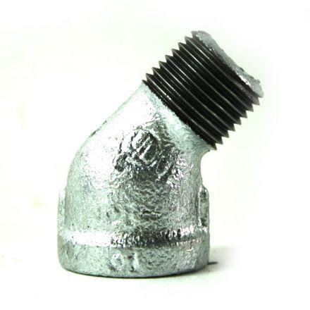 Thrifco Plumbing 5217050 1/2 Inch Galvanized Steel 45 Street Elbow