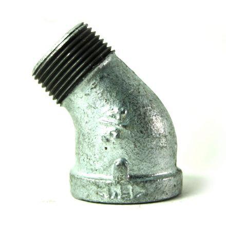 Thrifco Plumbing 5217051 3/4 Inch Galvanized Steel 45 Street Elbow