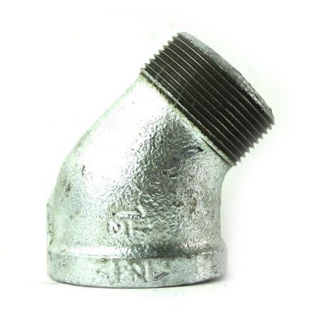 Thrifco Plumbing 5217054 1-1/2 Inch Galvanized Steel 45 Street Elbow