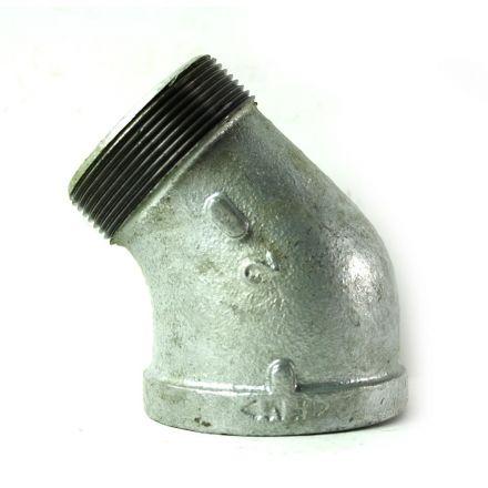 Thrifco Plumbing 5217055 2 Inch Galvanized Steel 45 Street Elbow