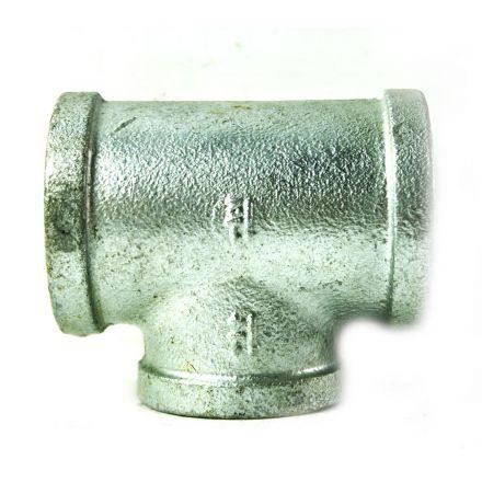 Thrifco Plumbing 5217069 1-1/2 Inch Galvanized Steel Tee