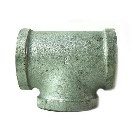 Thrifco Plumbing 5217070 2 Inch Galvanized Steel Tee