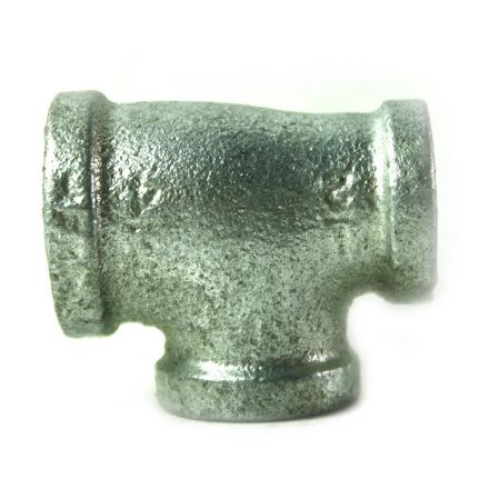 Thrifco Plumbing 5217075 3/4 Inch x 1/2 Inch x 1/2 Inch Galvanized Steel Reducer Tee