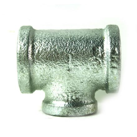 Thrifco Plumbing 5217077 1 Inch x 1 Inch x 3/4 Inch Galvanized Steel Reducer Tee