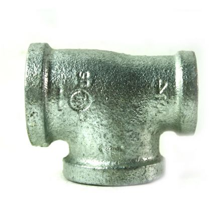 Thrifco Plumbing 5217079 1 Inch x 3/4 Inch x 1 Inch Galvanized Steel Reducer Tee