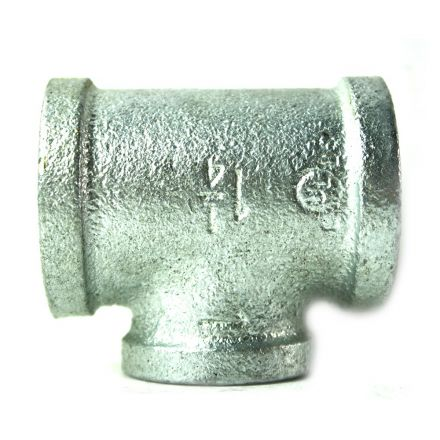 Thrifco Plumbing 5217081 1-1/4 Inch x 1-1/4 Inch x 1 Inch Galvanized Steel Reducer Tee