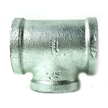 Thrifco Plumbing 5217084 1-1/2 Inch x 1-1/2 Inch x 1-1/4 Inch Galvanized Steel Reducer Tee