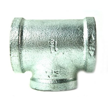 Thrifco Plumbing 5217085 1-1/2 Inch x 1-1/2 Inch x 1 Inch Galvanized Steel Reducer Tee
