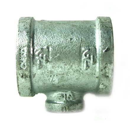 Thrifco Plumbing 5217087 1-1/2 Inch x 1-1/2 Inch x 1/2 Inch Galvanized Steel Reducer Tee
