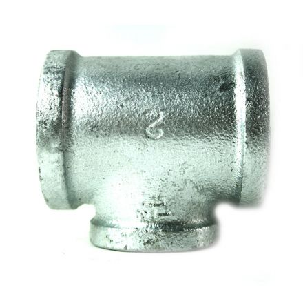 Thrifco Plumbing 5217088 2 Inch x 2 Inch x 1-1/2 Inch Galvanized Steel Reducer Tee