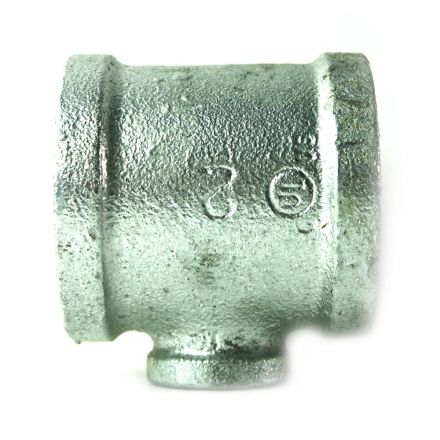 Thrifco Plumbing 5217091 2 Inch x 2 Inch x 3/4 Inch Galvanized Steel Reducer Tee